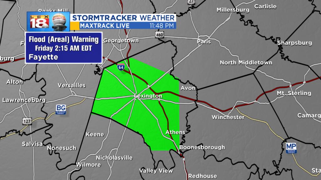 Flood Warning Fayette