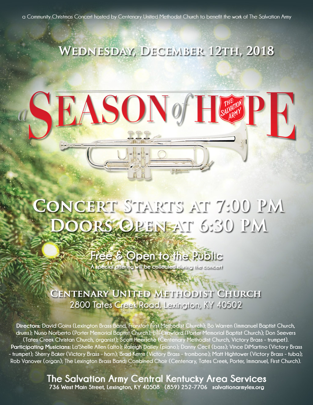 Salvation Army Season of Hope Christmas Concert