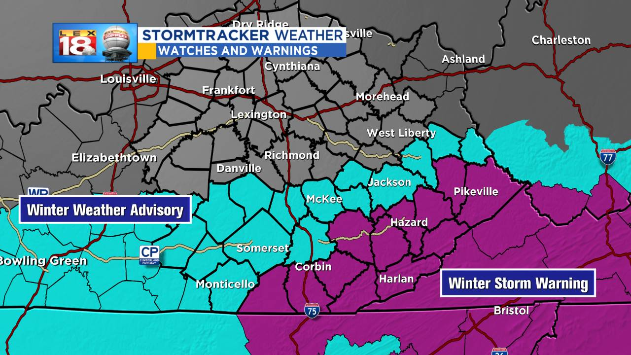 Winter Storm Warning has been Expanded
