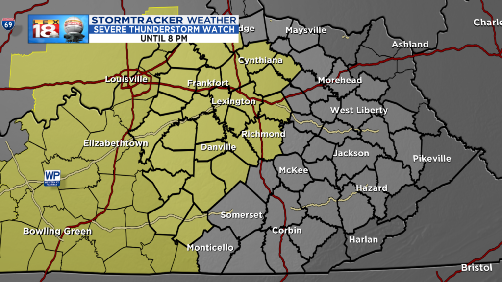 Severe Thunderstorm Watch until 8 PM